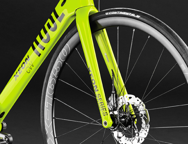 Best braking perfromance in any weather: full-carbon fork with 12 mm thru axle and FlatMount Disc