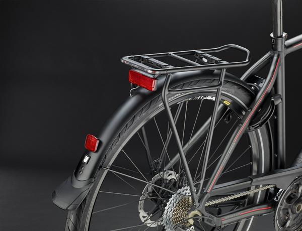 racktime I-VALO Tour RTA carrier perfectly integrated into the bike, ideal for carrying luggage