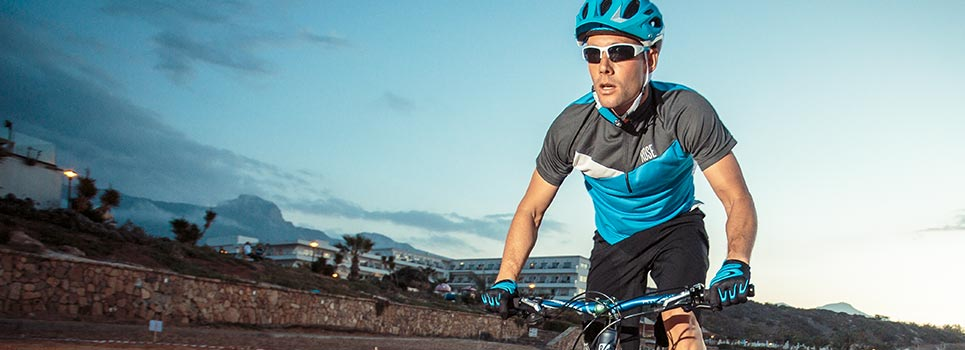 Individual sports glasses for cycling
