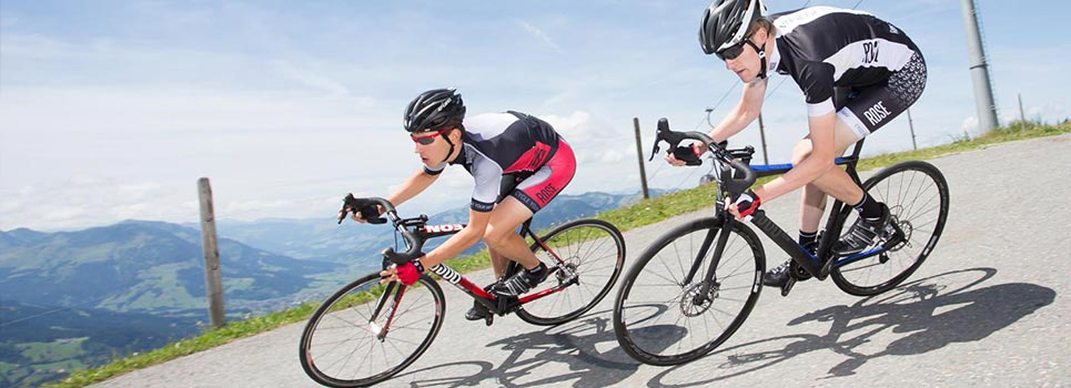 Sportsbriller og solbriller med styrke: Cykelbriller med brilleadaptere.