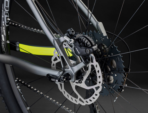 Slow down! – Shimano's SLX disc brakes offer 25% more braking power