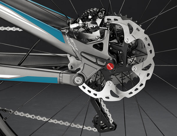 Shimano XT disc brake: great braking performance in any situation, in all conditions