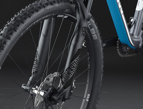 Rock Shox Pike suspension fork: outstanding suspension performance, even when it is getting rough