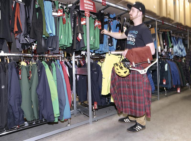 A huge range of clothing