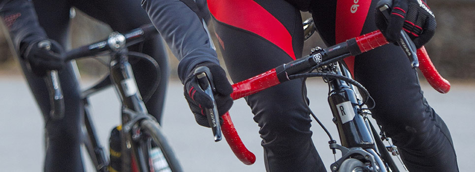 Bar tape for appropriate grip when cycling