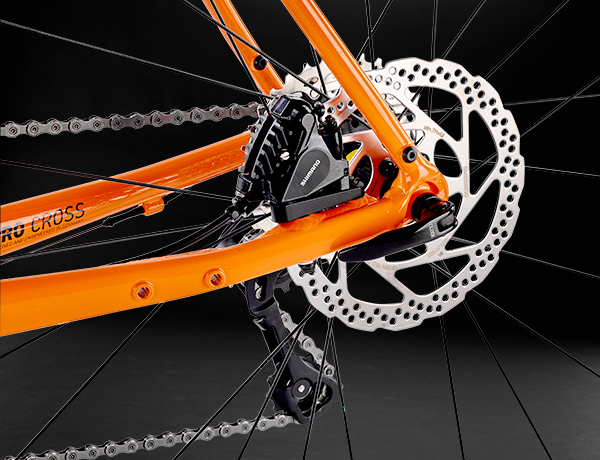 Protected inside the triangle: disc brake with FlatMount standard