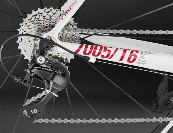 Perfectly suitable for marathon use: a long rear derailleur as standard,  combined with a 11-32 cassette