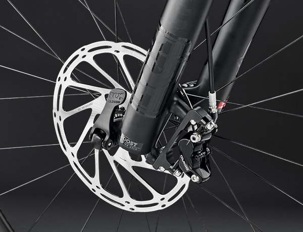 Packs a hefty punch: effective disc brake for great braking performance