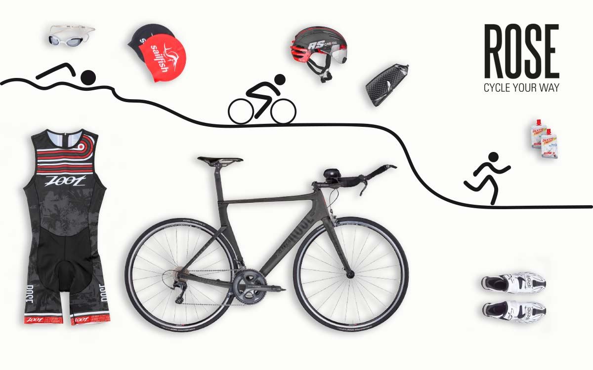 Kleding en accessoires rondom het thema triatlon