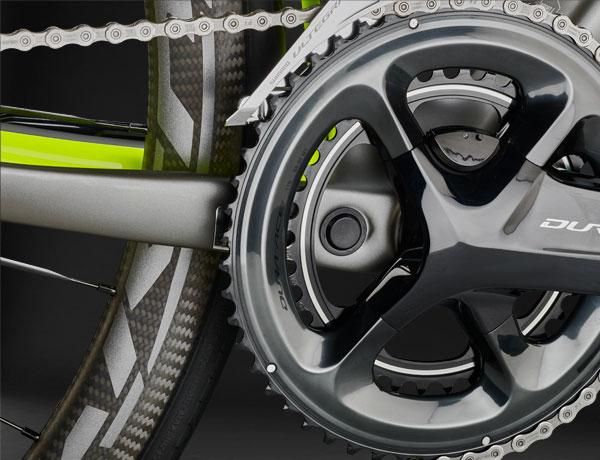 Powermeter ready: Perfekt vorbereitet für die Shimano FC-R9100P Leistungsmesskurbel