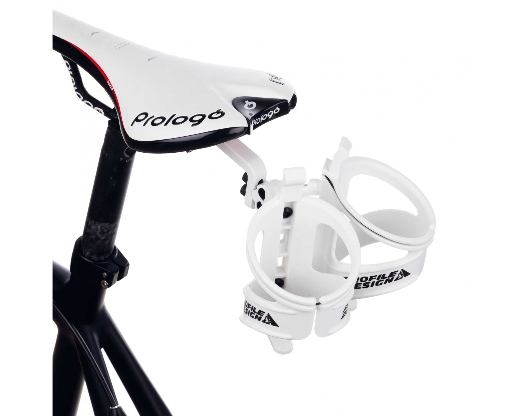Profile Aqua Rack Rm System 1 Bottle Cage Adapter White