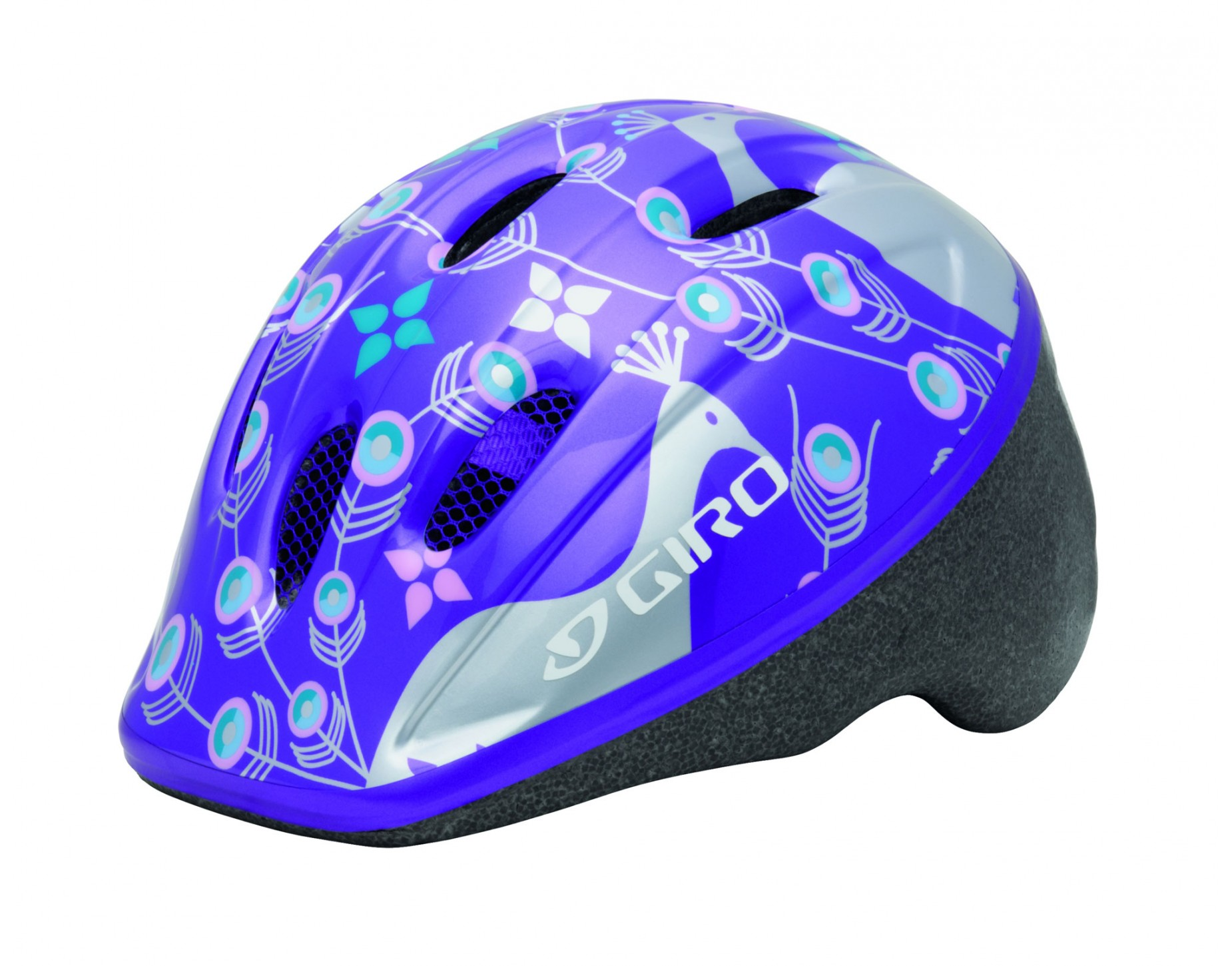 GIRO kinderhelm ME 2 purple silver eleanor peacocks