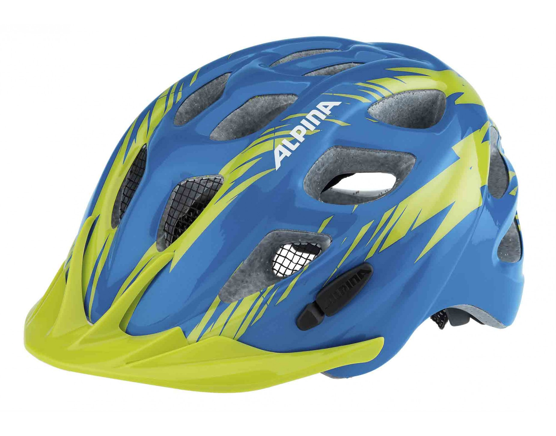 ALPINA ROCKY helmet for kids blue green