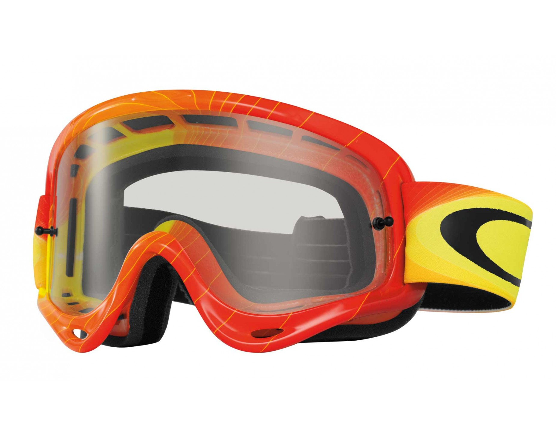 oakley o frame mx goggles swell fade red yellowclear