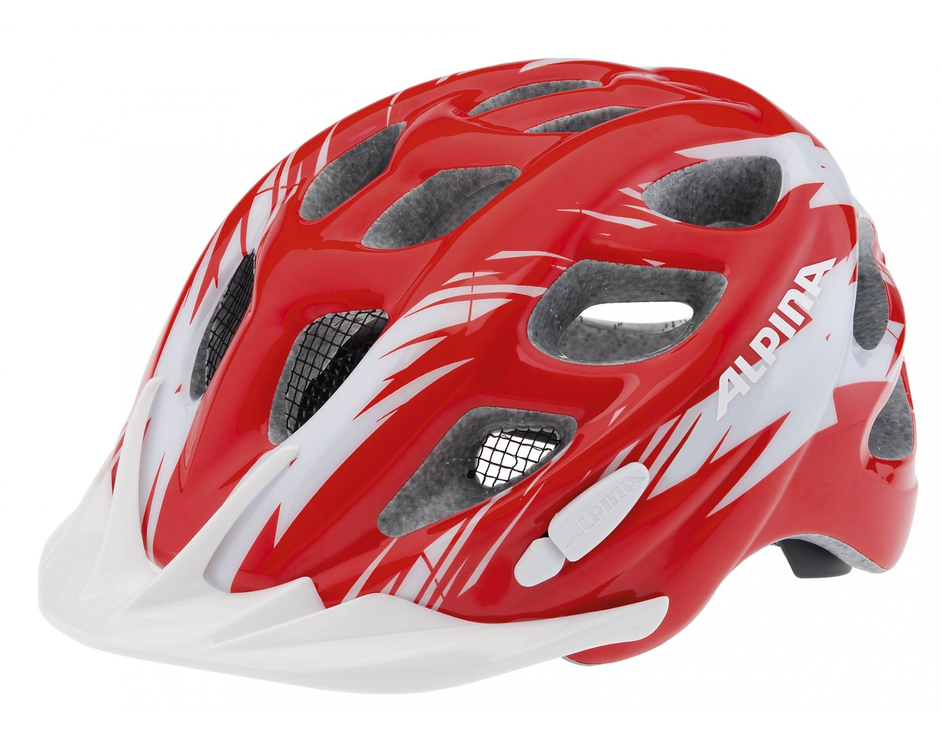ALPINA ROCKY helmet for kids red white