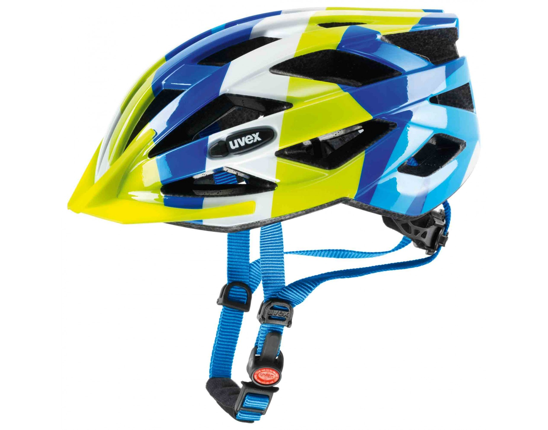 uvex air wing kids helmet blue green