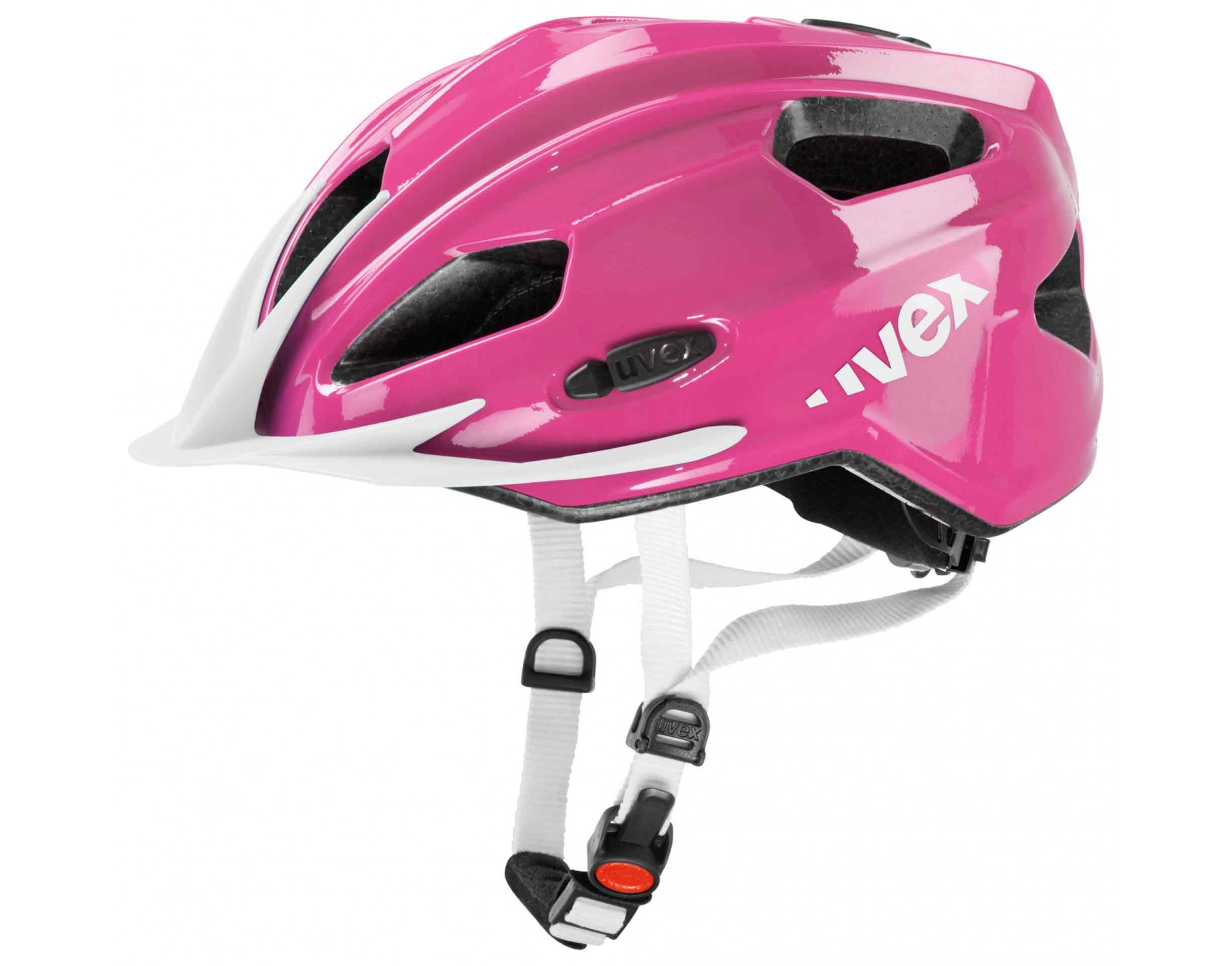 uvex quatro junior kids helmet pink white