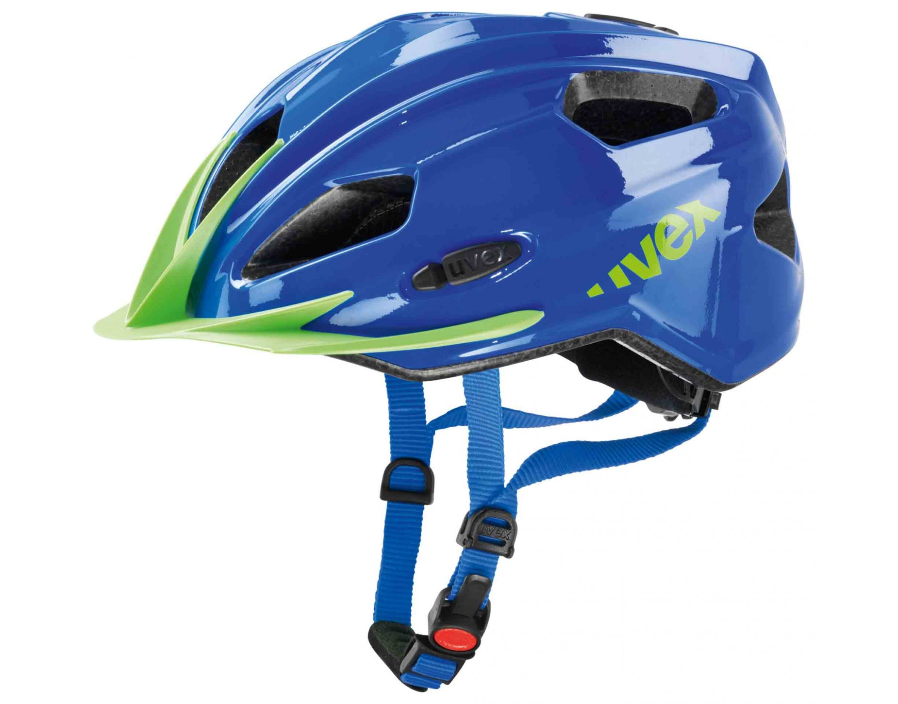 uvex quatro junior kids helmet blue green