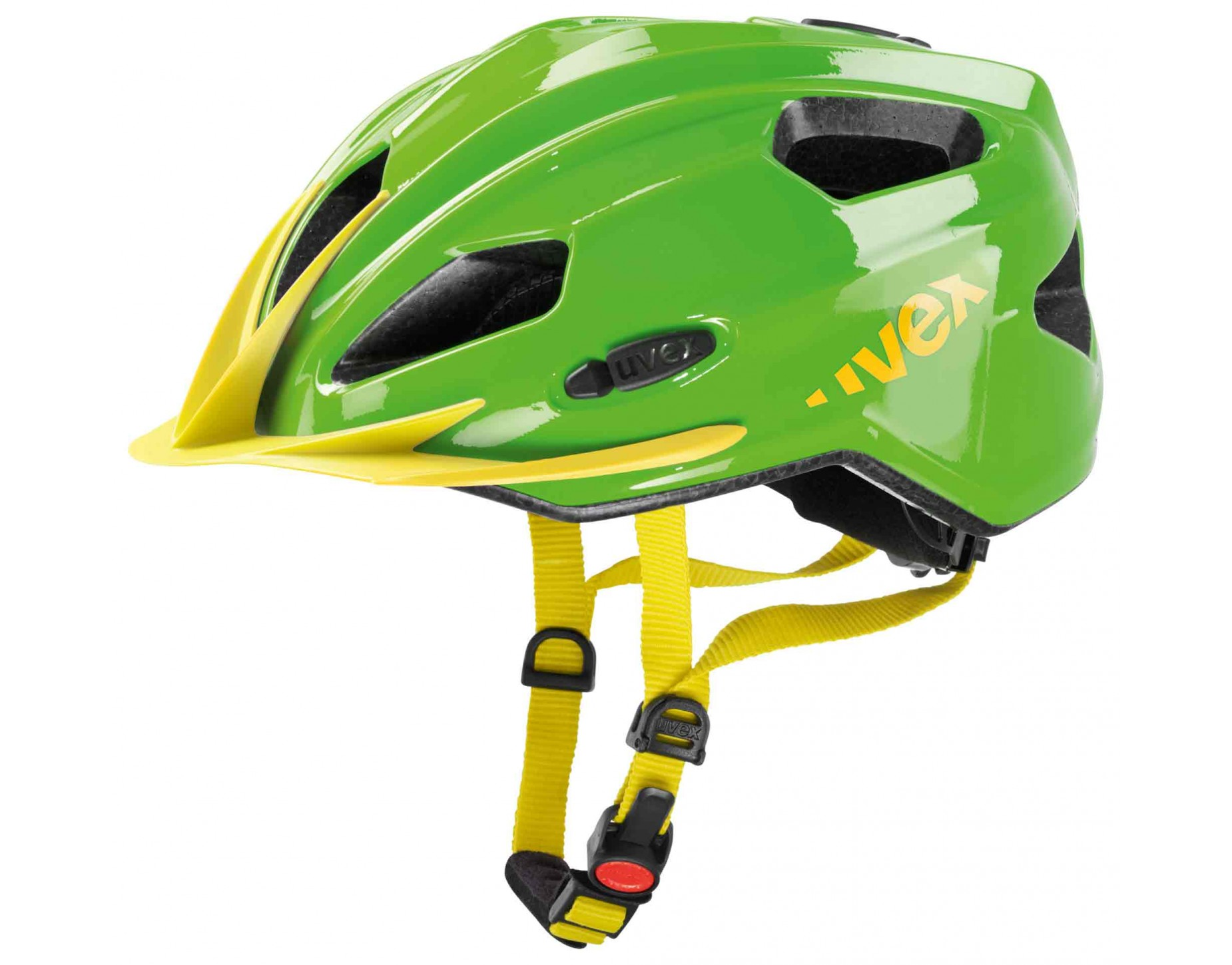 uvex quatro junior kids helmet green yellow