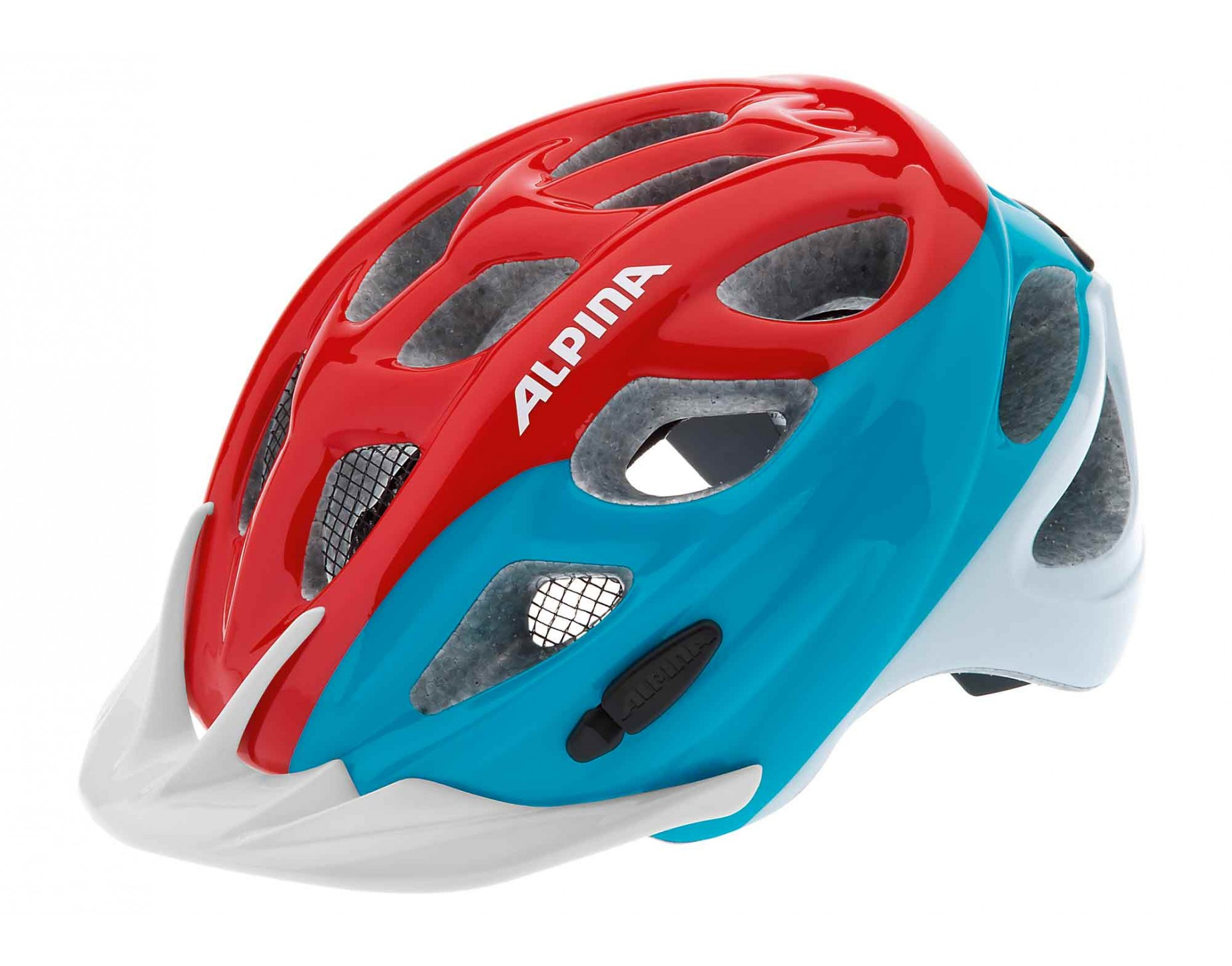 ALPINA ROCKY helmet for kids red blue white