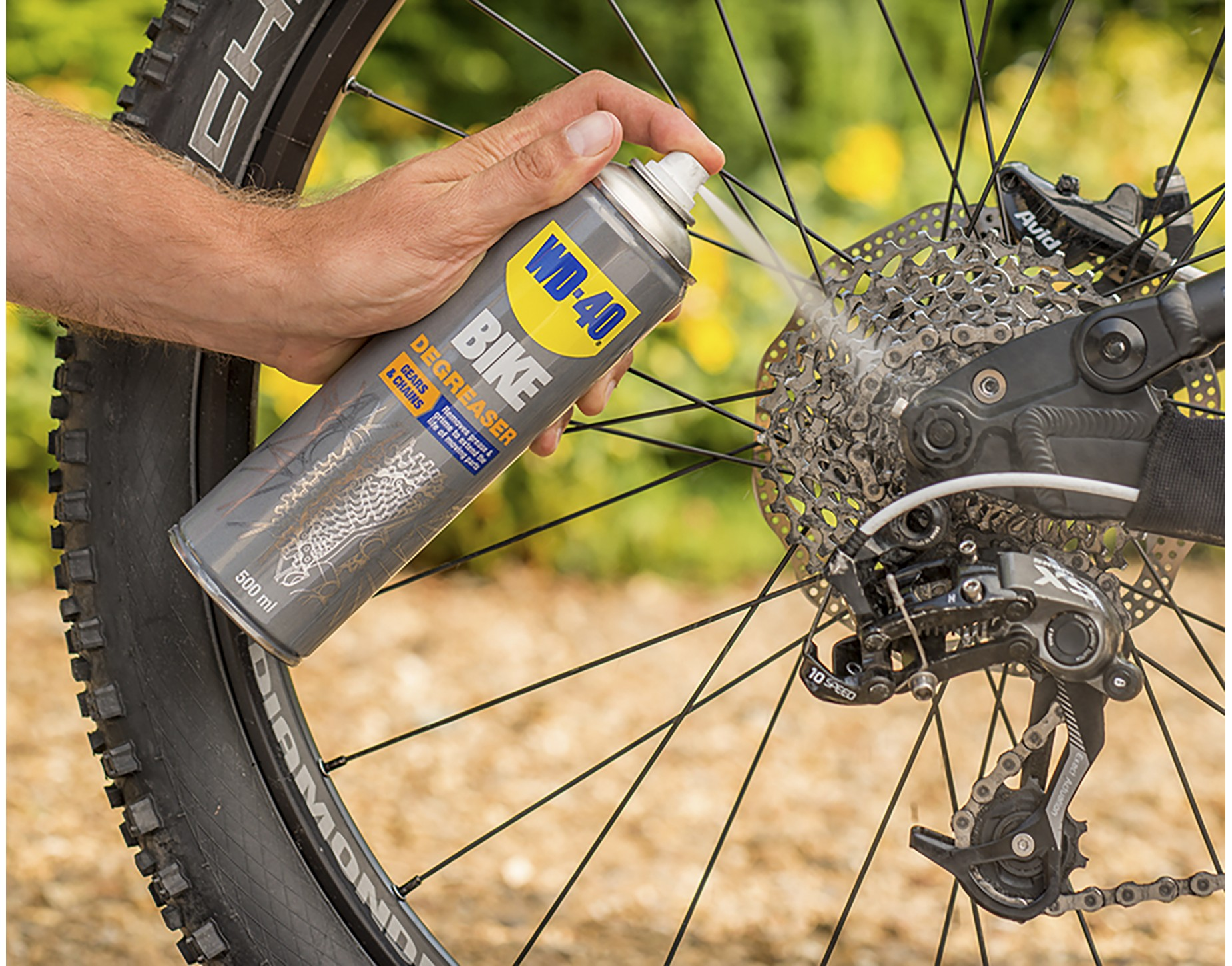 wd 40 bike chain cleaning spray offers at the cycling shop. Black Bedroom Furniture Sets. Home Design Ideas
