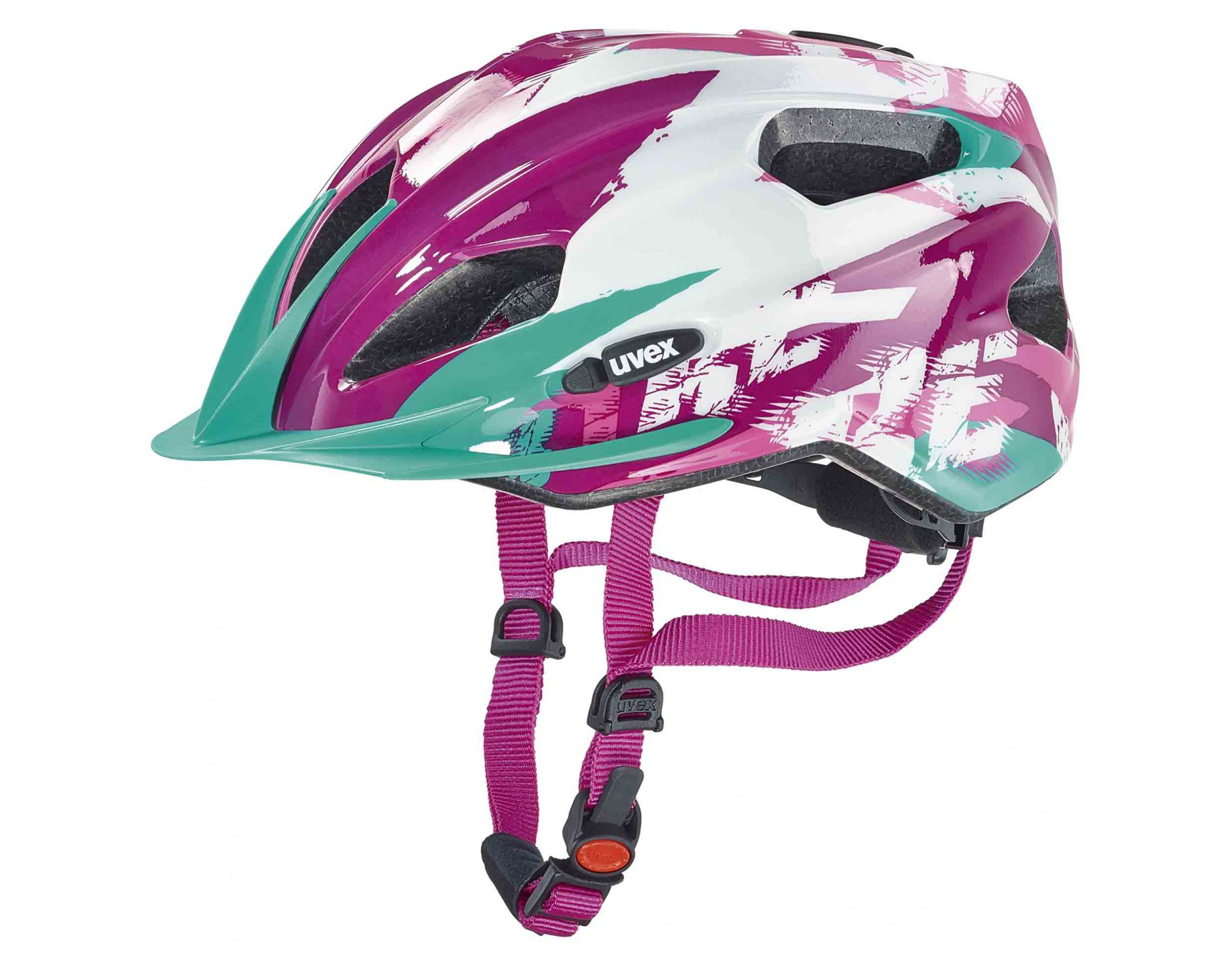 uvex quatro junior kids helmet white pink