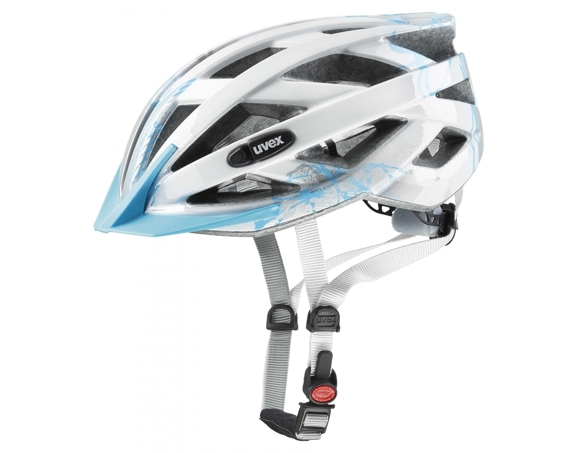 uvex air wing kids helmet lightblue silver