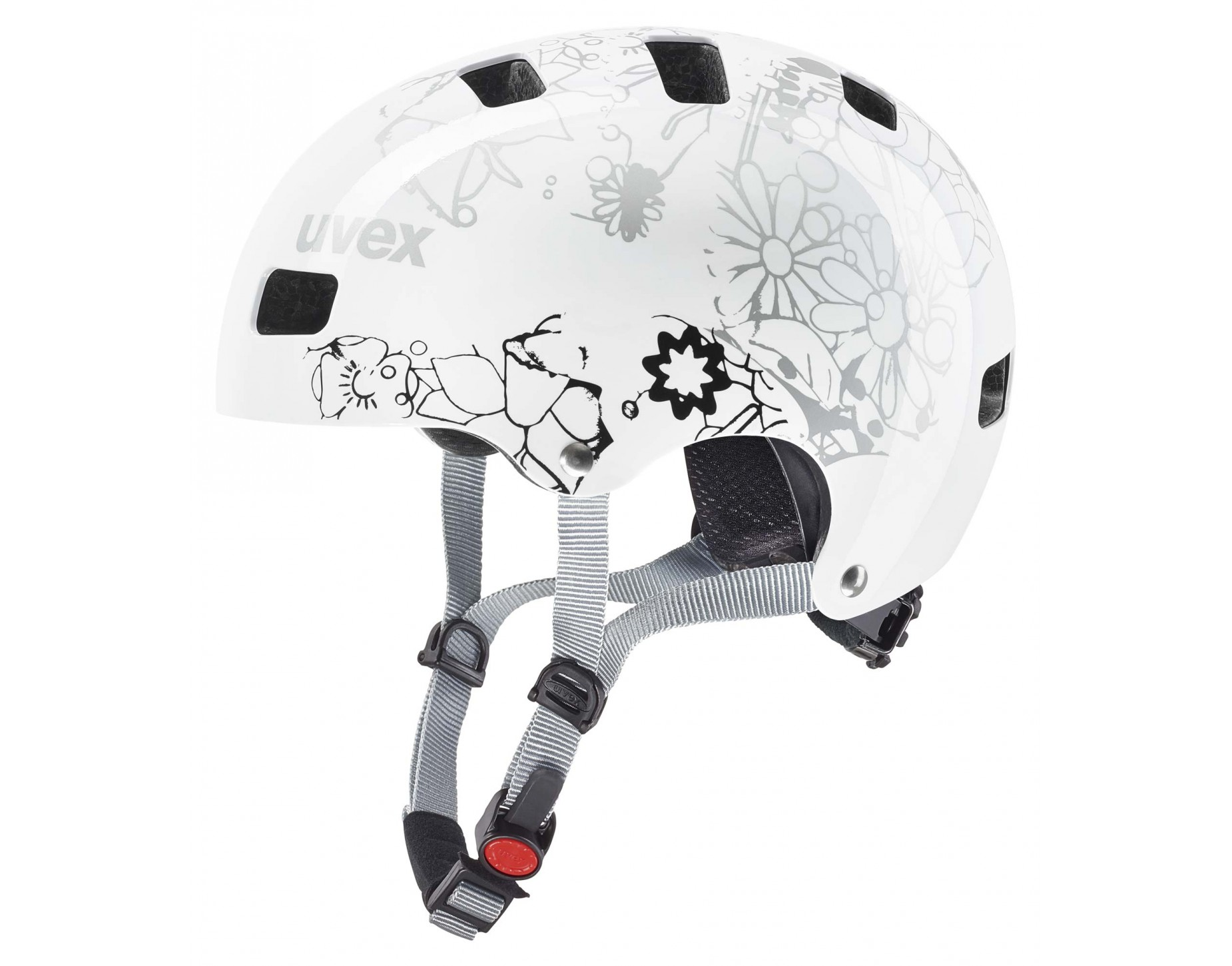 uvex KID 3 Kinder Helm white flower