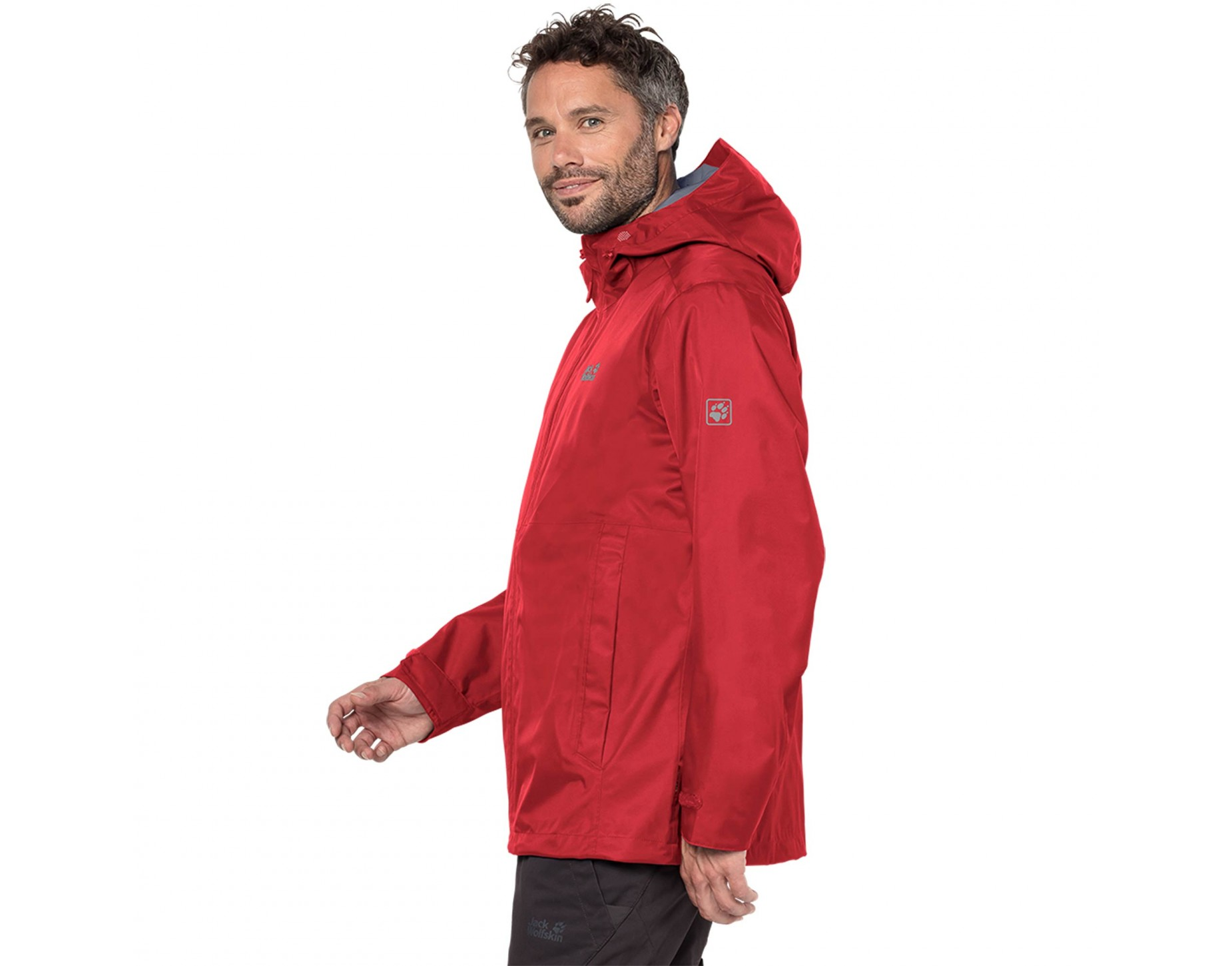 Jack wolfskin red and black jacket