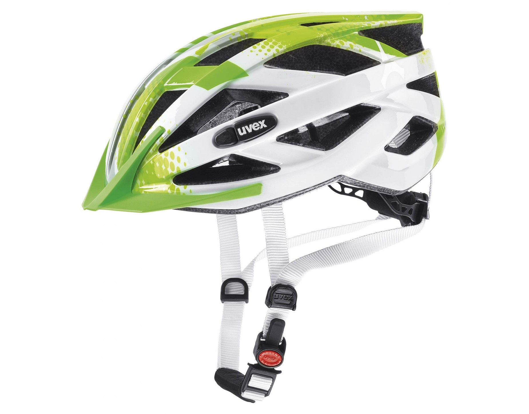 uvex air wing kids helmet lime white
