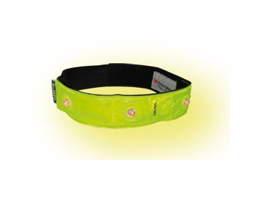 b-lite LED reflective band day-glo yellow
