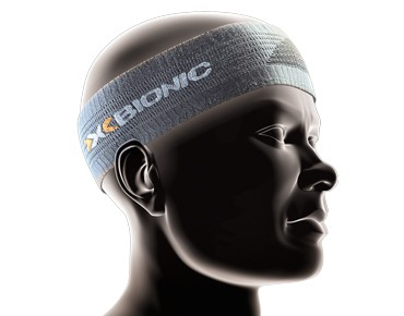 X BIONIC Headband light charcoal/pearl grey
