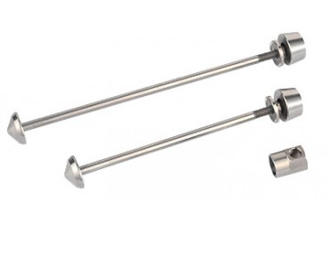 Pitlock Set 03 tension axles with theft protection silver
