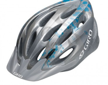 GIRO Sporthelm INDICATOR silver/ice blue flowers
