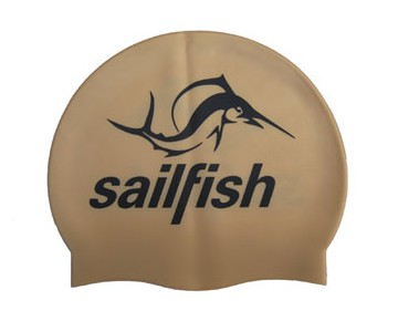 sailfish Silikon Cap Badekappe gold