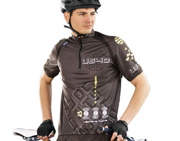 US40 ATTACK cycling shirt coffee