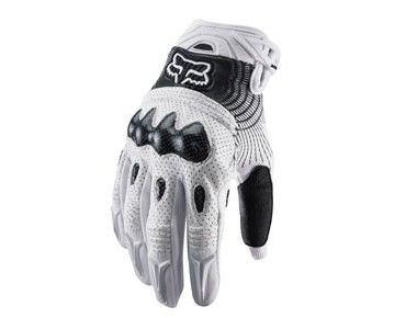 FOX BOMBER gloves white/black