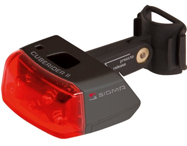 Sigma Cuberider II diode rear light black