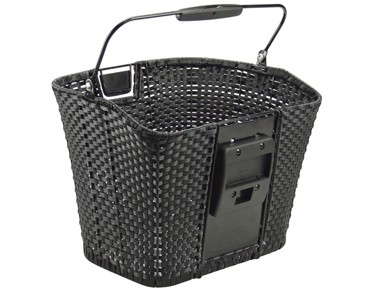 Rixen & Kaul STRUCTURA front bicycle basket schwarz