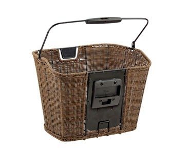 Rixen & Kaul STRUCTURA front bicycle basket brown EF