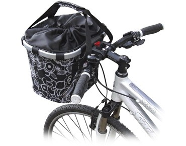 Reisenthel BIKEBASKET handlebar bag with KLICKfix mount fleur black