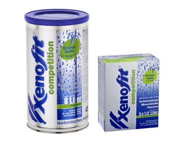 Xenofit competition drink powder green apple