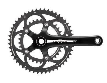Campagnolo Veloce CT Compact Power Torque - guarnitura schwarz