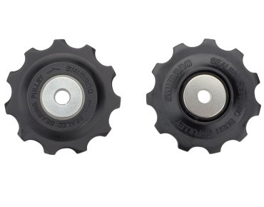 SHIMANO derailleur wheels black