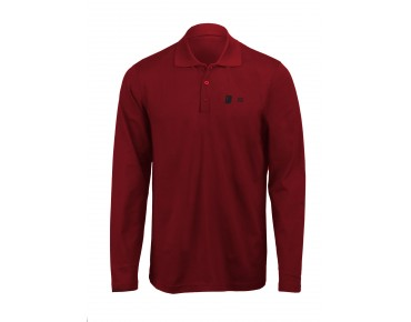 ROSE long-sleeved polo shirt vino