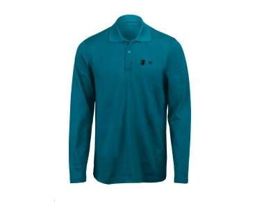 ROSE Polo Shirt Langarm petrol