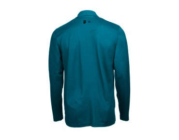 ROSE long-sleeved polo shirt petrol
