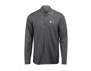 ROSE long-sleeved polo shirt graphite