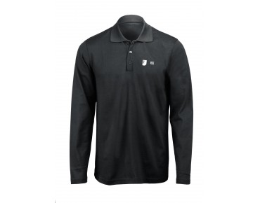 ROSE Polo Shirt Langarm black
