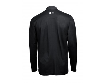 ROSE long-sleeved polo shirt black